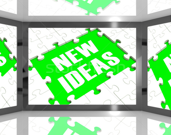 New Ideas On Screen Showing Improved Ideas Stock photo © stuartmiles