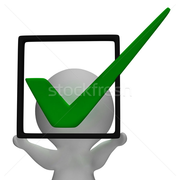 Holding Checkbox Or Check Box Shows Approval Or Checked Stock photo © stuartmiles