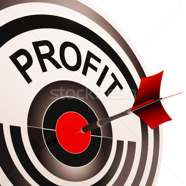 Profit Shows Market And Trade Earning Stock photo © stuartmiles