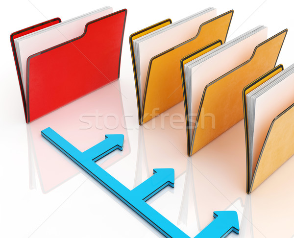 Folders Or Files Shows Correspondence And Organized Stock photo © stuartmiles