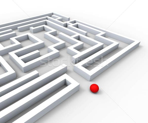 Complicated Maze Shows Complexity And Challenges Stock photo © stuartmiles