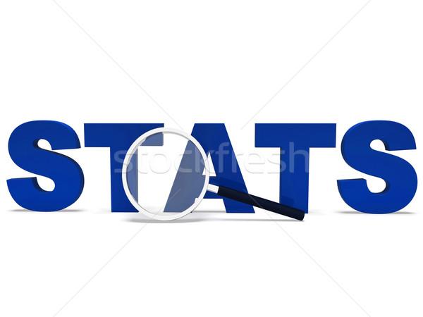 Kelime istatistik rapor analiz Stok fotoğraf © stuartmiles