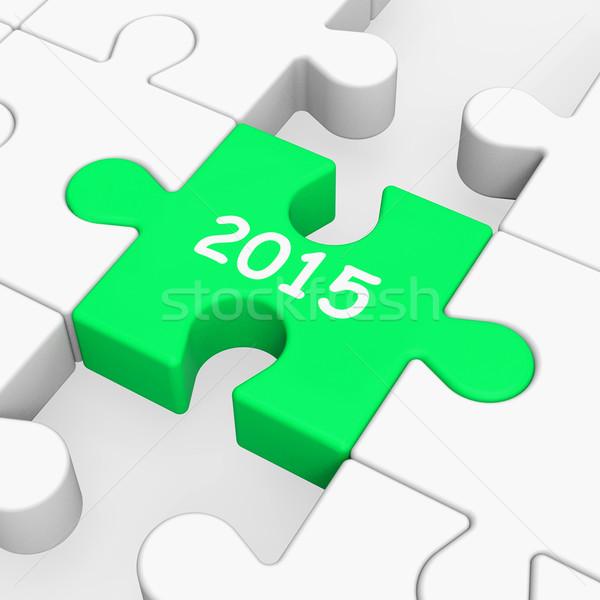 Deux mille quinze puzzle année 2015 Photo stock © stuartmiles