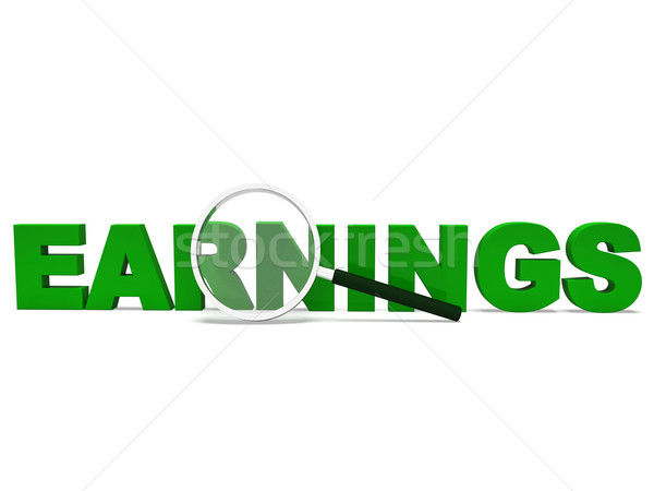 Earnings Word Shows Earning Revenues And Profitable Income Stock photo © stuartmiles