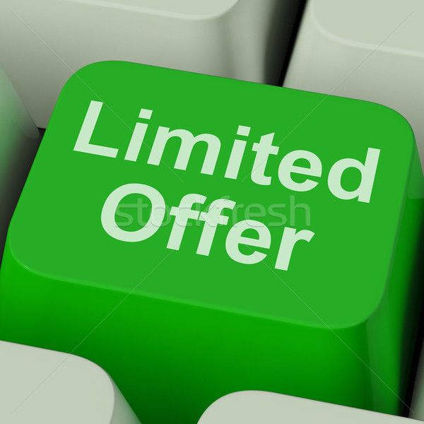 Limited Offer Key Showing Deadline Product Promotion Stock photo © stuartmiles