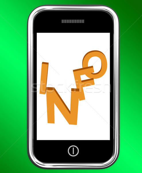 Informações telefone instruções internet Foto stock © stuartmiles