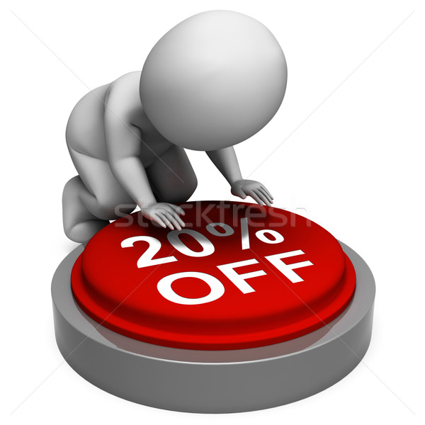 Twenty Percent Off Button Means 20 Price Markdown Stock photo © stuartmiles