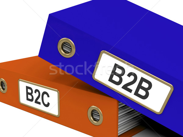 B2B And B2C Folders Mean Company Partnerships Or Customer Relati Stock photo © stuartmiles