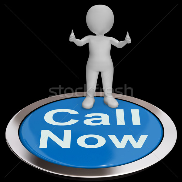 Llamada ahora botón línea de ayuda Foto stock © stuartmiles
