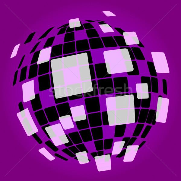 Modern Disco Ball Background Shows Nightclub Or Light Spots Stock photo © stuartmiles