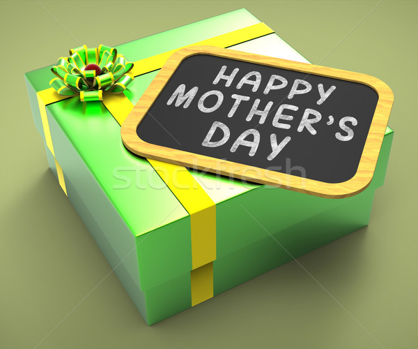 Happy Mothers Day Present Means Motherhood Celebrations And Love Stock photo © stuartmiles