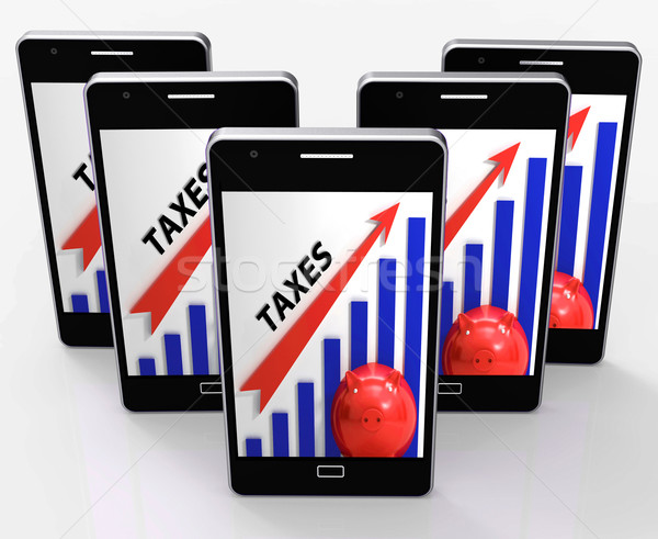 Taxes Graph Shows Increase In Taxes And Tariffs Stock photo © stuartmiles