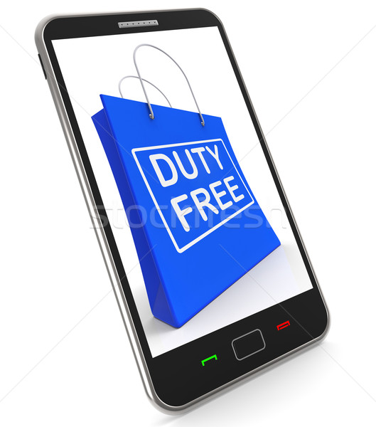 Duty Free on Shopping Bags Shows Tax Free Purchases Stock photo © stuartmiles