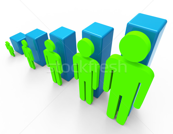 Nüfus grup yukarı başarı Stok fotoğraf © stuartmiles