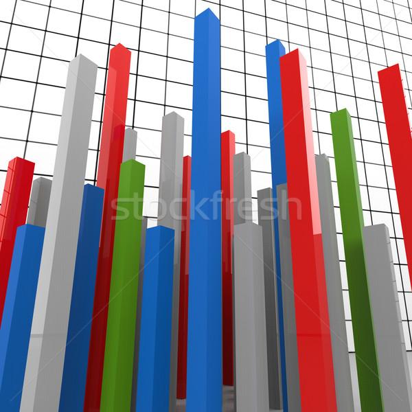 Graph Report Represents Finance Graphic And Diagram Stock photo © stuartmiles