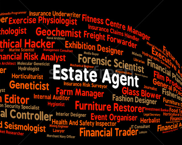 Estate Agent Shows Work Hiring And Word Stock photo © stuartmiles