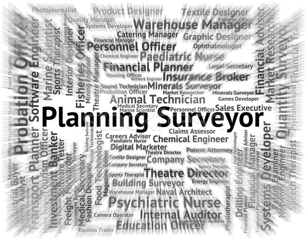 Planning Surveyor Means Recruitment Text And Surveys Stock photo © stuartmiles
