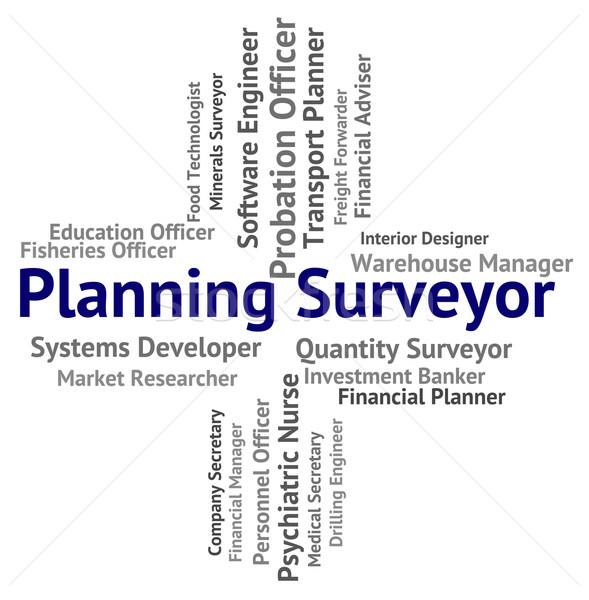 Planning Surveyor Indicates Mission Surveying And Work Stock photo © stuartmiles