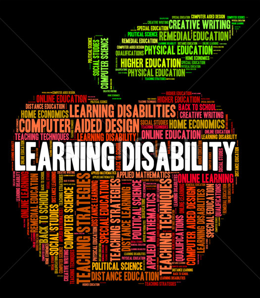 Learning Disability Words Indicates Special Education And Gifted Stock photo © stuartmiles