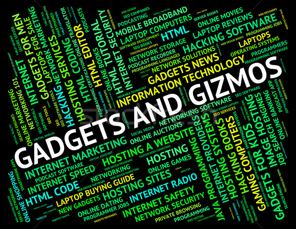 Gadgets And Gizmos Represents Mod Con And Tools Stock photo © stuartmiles