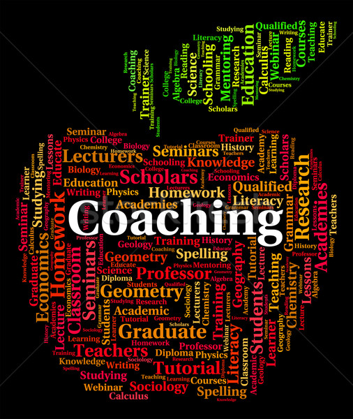 Coaching Word Means Give Lessons And Seminar Stock photo © stuartmiles