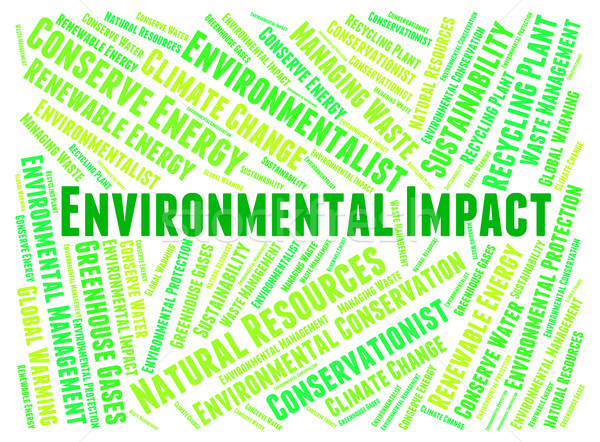 Environmental Impact Shows Words Earth And Environmentally Stock photo © stuartmiles