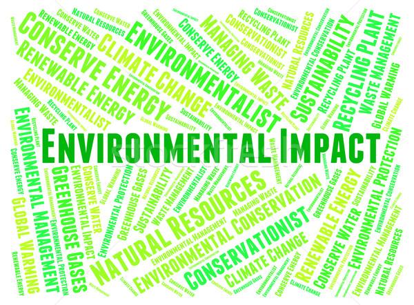 Milieu woorden aarde gevolg woord planeet Stockfoto © stuartmiles