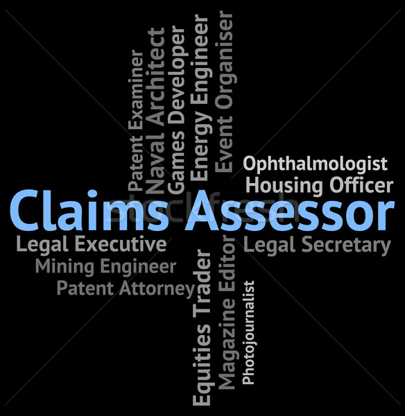 Claims Assessor Means Employment Jobs And Claiming Stock photo © stuartmiles