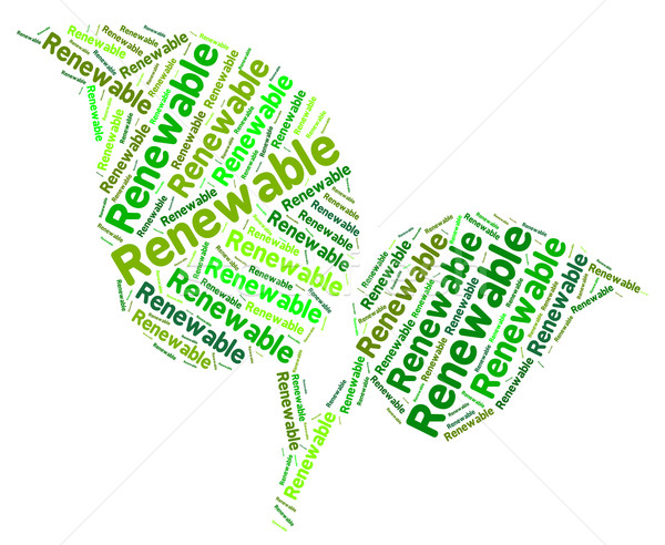 Renewable Word Shows Earth Friendly And Recondition Stock photo © stuartmiles