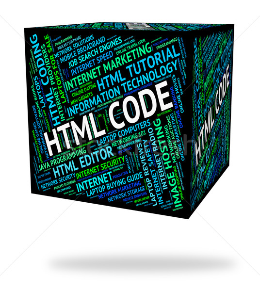 Html Code Means Hypertext Markup Language And Cipher Stock photo © stuartmiles