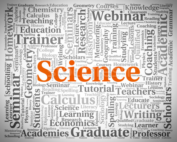 Science mot chimiste physique texte Photo stock © stuartmiles