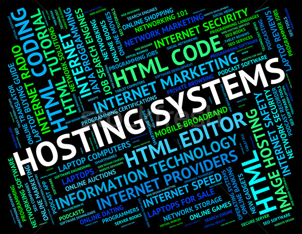 Hosting server www digitale tekst Stockfoto © stuartmiles