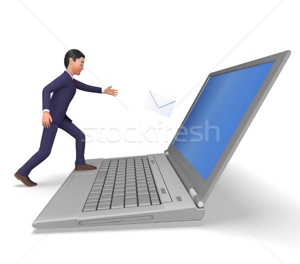 Man e-mail commerce corporate volwassen Stockfoto © stuartmiles