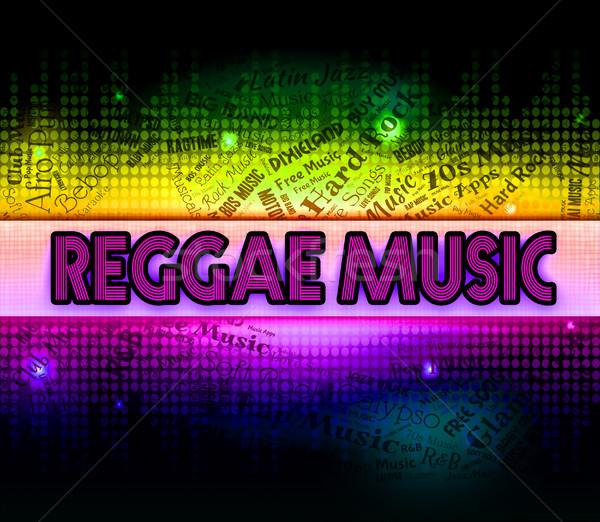 Reggae Music Represents Sound Tracks And Acoustic Stock photo © stuartmiles