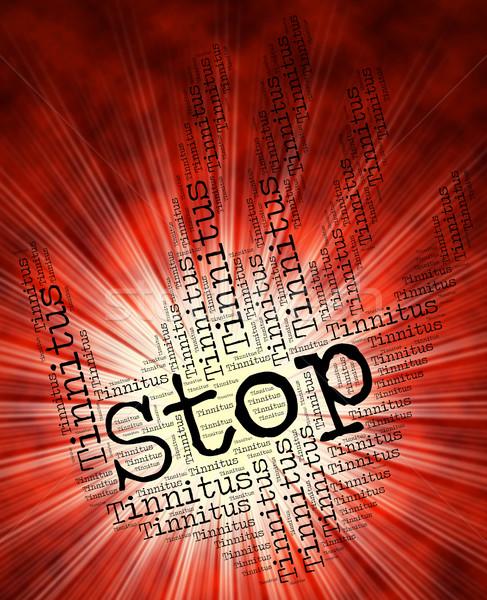 Stop figyelmeztető jel fül puha irányítás stoptábla Stock fotó © stuartmiles