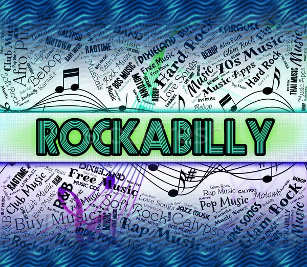 Rockabilly Music Means Sound Track And Acoustic Stock photo © stuartmiles