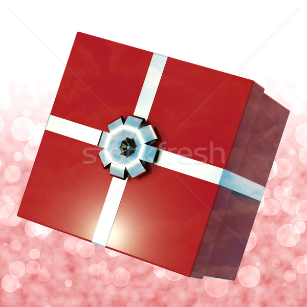 Red Giftbox With Bokeh Background For Girls Birthday Stock photo © stuartmiles