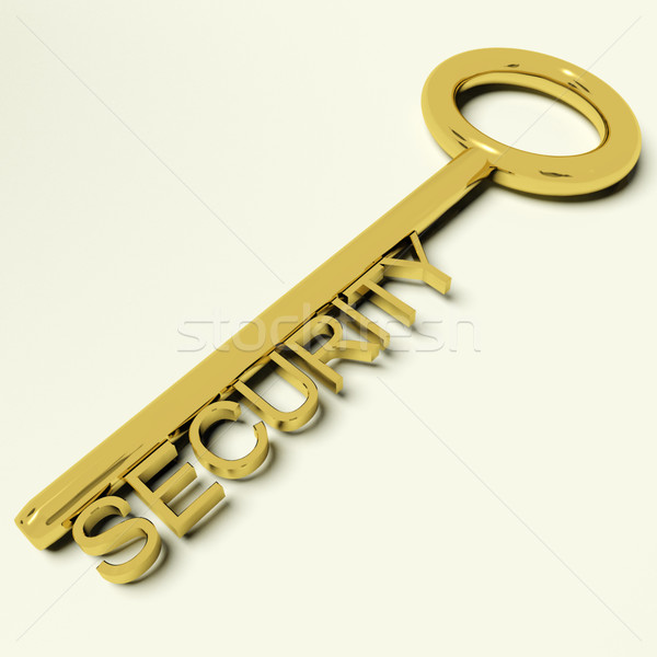 Security Key Representing Safety And Encryption Stock photo © stuartmiles