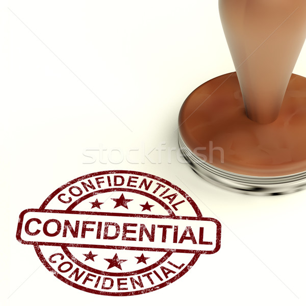 Confidentiel tampon correspondance documents communication Photo stock © stuartmiles