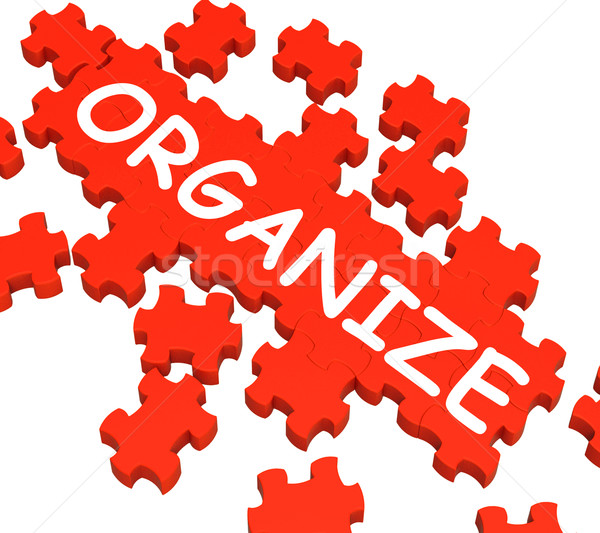 Organize Puzzle Shows Arranging Or Organizing  Stock photo © stuartmiles