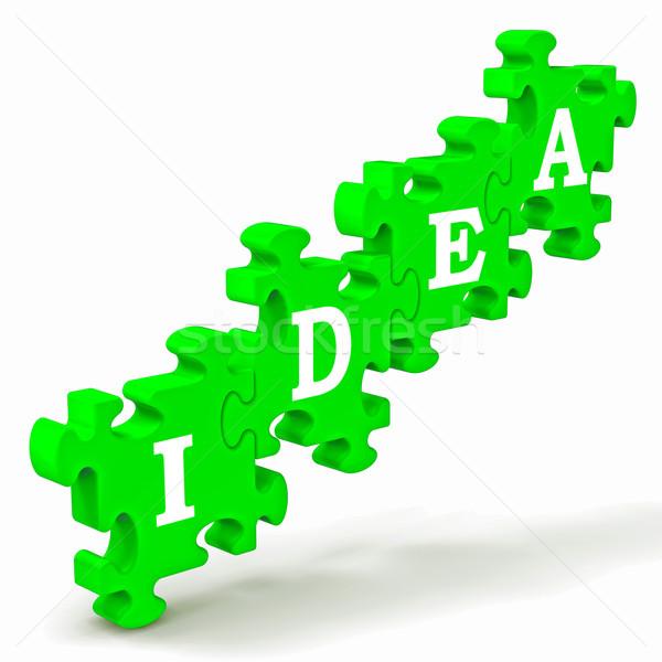 Stok fotoğraf: Fikir · gelişme · yaratıcılık · düşünceler · düşünme