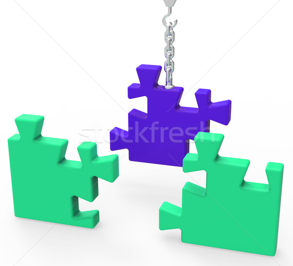 Unfinished Puzzle Showing Connection And Achievement Stock photo © stuartmiles