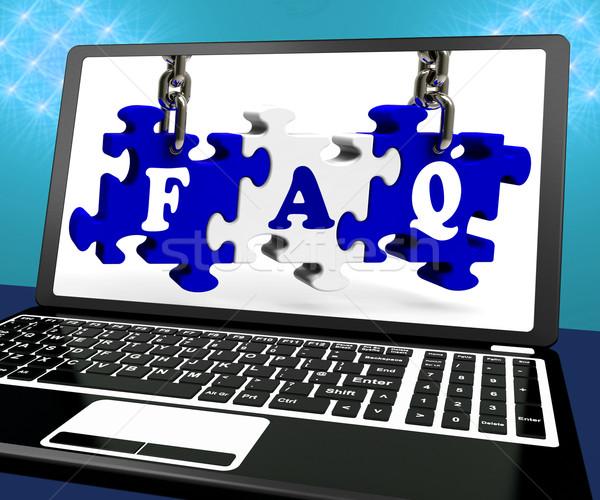 よくある質問 パズル ノートパソコン ウェブサイト サポート ストックフォト © stuartmiles