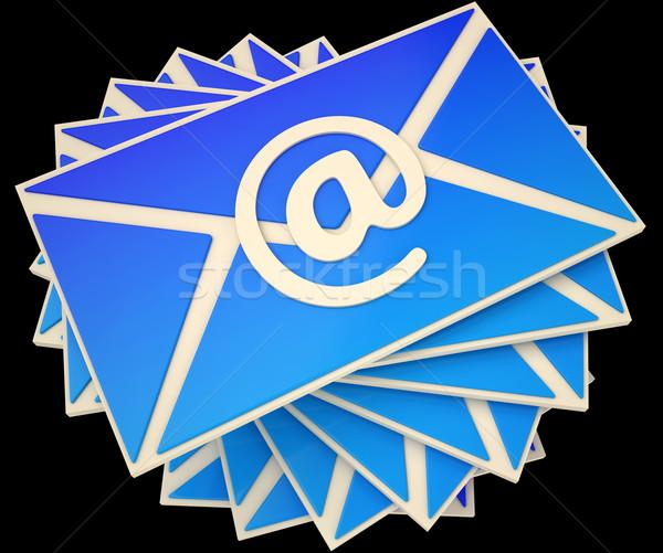 Photo stock: Enveloppe · courriel · ligne · communiquer · informations