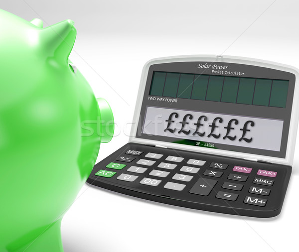 Pounds Calculator Shows UK Interest On Wealth Stock photo © stuartmiles