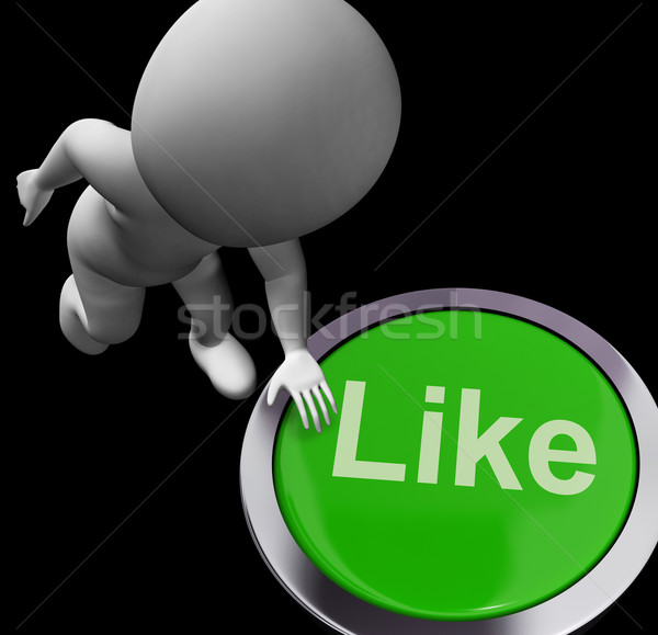 Like Button Shows Approval Or Being A Fan Stock photo © stuartmiles