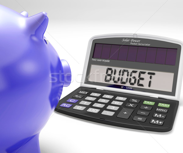 Budget Calculator Shows Spending And Costs Management Stock photo © stuartmiles
