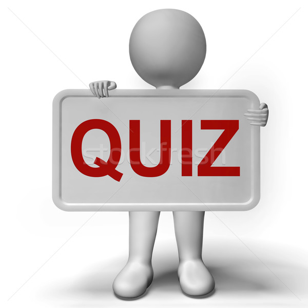 Quiz Sign Meaning Test Exam Or Examination Stock photo © stuartmiles