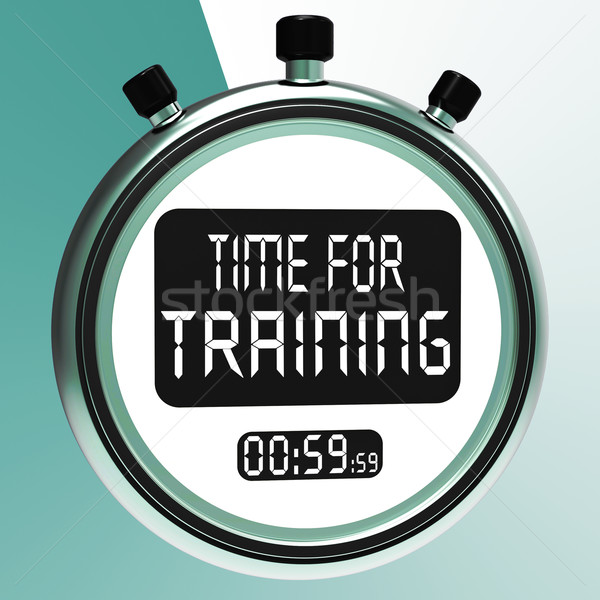 Time For Training Message Meaning Coaching And Instructing Stock photo © stuartmiles