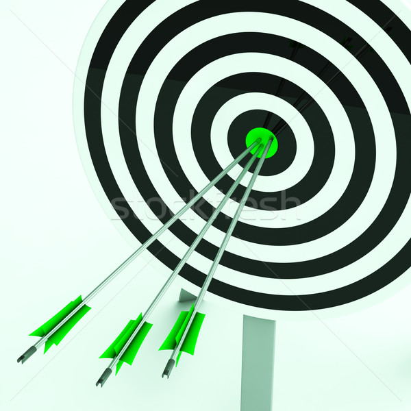 Arrows On Dartboard Shows Perfection Stock photo © stuartmiles